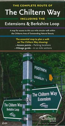 Complete Route of The Chiltern Way including the Extensions & Berkshire Loop