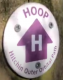 Purple Arrow with 'H' on white background and walk name around.