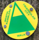 Green and yellow triangles on a yellow background, including walk name